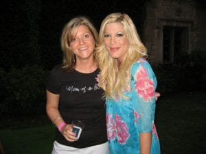 Launch of The Fleas Knees tees, the Playboy Mansion, with Tori Spelling: LA, 2007.